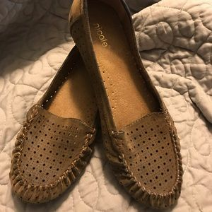 Tan suede flats size 8 1/2